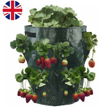 Hanging Strawberry Planter Bag Pouch Kit,2 Pack Gardens Floral Planter for Strawberry Bare Root Plants,Felt Grow Bags