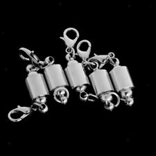 5pcs Silver Column Magnet Clasp Necklace Connector Clasp For Jewelry Making