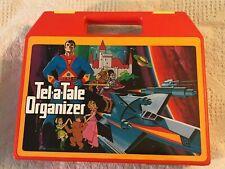 Vintage TEL-A-TALE ORGANIZER Book Cassette Set Storage Case Box 1980s