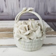 Lladro basket roses matte thorns RARE flowers bisque older