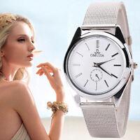 New Fashion Men Women Wrist Watches Stainless Steel Quartz Analog Sport Watch VD