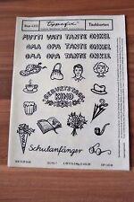 DDR typofix Folie Tischkarten Rubbelbilder