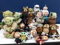 Used LOT 28 Star Wars Plush Doll Toys Yoda Chewbacca BB8 Droid Stormtrooper Yoda