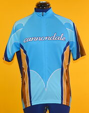 "Cannondale ""Full Wood"" Men's S/S Cycling Jersey (Blue) Medium Made in U.S.A."