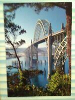 POST CARD YAQUINA  BAY BRIDGE COASTAL OREGON