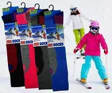 Kids Bambino Ragazzi Ragazze Ski Boot SOCKS Morbido Termico Imbottito Lungo Lunghezza.