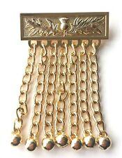 Freimaurer oder Orange Auftrag Schürze Schottische Distel Design Quasten Golden