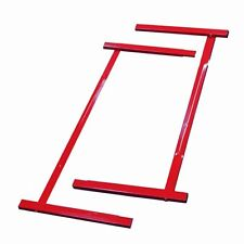 Red Junior Kip Bar Steel Extensions Base Supports Gymnastics Training Fitness