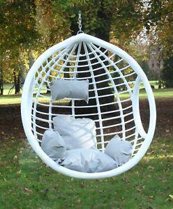 Garden Hanging Chair Hammocks Swing Egg Chair PE rattan - Basket ONLY White
