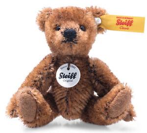 Steiff Mini Brown Teddy Bear - jointed mohair collectable - 9cm - 028151