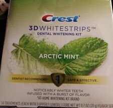 Crest 3D Whitestrips  Dental Whitening Kit Arctic Mint 14 Treatments Expire 2021