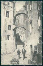 Imperia Sanremo Saluto da Strada Vecchia cartolina RT1080