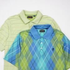 Payne Stewart 2 Button Polo Golf Shirt Striped & Argyle Mens M Lot of 2