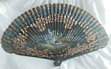 Casa De Diego Madrid Spain Handpainted Signed M Esteve Artwork Wood Silk Fan