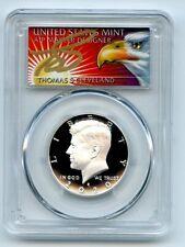 2020 S 50C Silver Kennedy Half Dollar PCGS PR70DCAM FDOI Thomas Cleveland Eagle