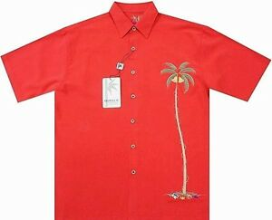 Bamboo Cay Fine Resortwear  TOMATO Merry Christmas Single Palm (Size Options)(4)