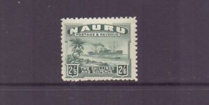 NAURU 1924 2/6 GREY-GREEN SG37A LMM CAT £32