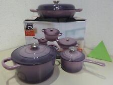 Cast Iron Saucepan Xanten Purple Induction Pots, Lid, Pan, Roaster, Pot New