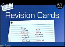 50pc REVISION CARDS Notecards Double Sided lined school Uni  girls boys