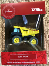 2020 Hallmark Red Box Christmas Ornament Tonka Yellow Dump Truck - New