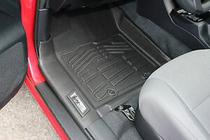 Front Sure-Fit Floor Mats: 2016-2018 Toyota Tacoma Double/Access/Standard Cab