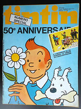 Journal Tintin 50 e anniversaire Complet Timbre TBE