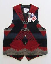 Pendleton Style Rhonda Stark Navy Apache Southwest Wool Blanket Vest Sz 38