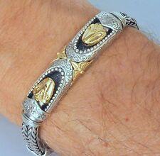 Konstantino Men's Snake Bracelet Serpent Sterling Silver 18K Yellow Gold New
