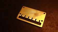 POLISHED BRASS TAIL PIECE FOR IRWIN WOLF OR SIMILAR STYLE GUITAR