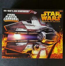 Star Wars ROTS Obi Wan Jedi Jedi Starfighter Red Vehicle Firing Cannon MISB