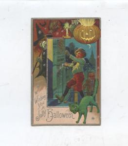 1910 embossed Halloween postcard, Doctor Brown's night-bell