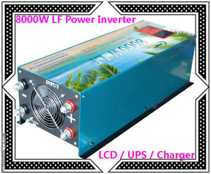 "32000W/8000W LF Pure Sine Wave Power Inverter 12V DC/110V AC 3.5""LCD/UPS/Charger"