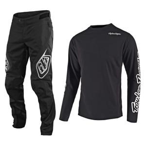 Troy Lee Designs Gear Combo Set Sprint Pants Jersey Bmx Mtb Dh Downhill Black