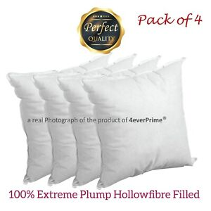 Cushion Pads Inserts Fillers Scatters 20x20 Inch Pack of 4 - Extra Deep Filled