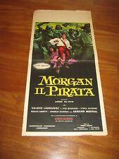 LOCANDINA,1960,MORGAN IL PIRATA,Steve Reeves,Chelo Alonso, De Toth,Zeglio