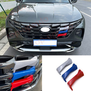 For Hyundai Tucson 2022 ABS Tricolor front bumper grill forming strip trim Cover