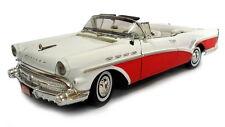 1:18 Motor Max Motormax Red White 1957 Buick Roadmaster Road Master Convertible