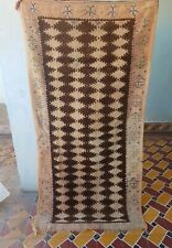 Old Vintage Authentic Handmade Moroccan Beni Ourain Atlas Berber Rug 6'5''x3'2''