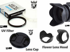 F56u Lens Hood + Cap + UV Filter for KODAK PIXPRO AZ521 AZ525 AZ651 Camera