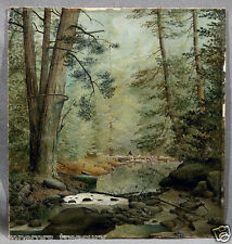Rocky Brook Forest Scene Oil Painting attribution James Hope (American/Canadian)