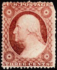 "Us Sc# 26a *Unused Lh* { ""Scarce"" Type Iv } 3c Dull Red Washington 1857 Series"