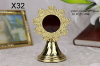 "+ Nice Brass ornate Monstrance Reliquary for church or home Relic 5.12""H X32"