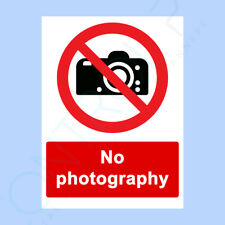 No Photography Sign, Self Adhesive Sticker - All Sizes Available - Prohibition