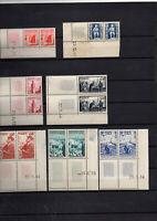 7 Blocs de 2 coins datés Maroc avant indépendance