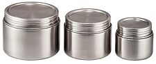 Bruntmor, 18/8 Stainless Steel Airtight Round Food Container Set of 3 8oz 16oz