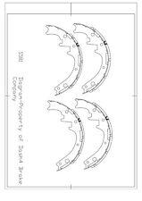 Drum Brake Shoe-Drum Rear Pronto S581R