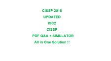 ISC CISSP (ISC)2 Exam Test  Q&A PDF + VCE Simulator (2018 )