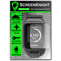 ScreenKnight TomTom Runner 2 FRONT SCREEN PROTECTOR invisible Military shield