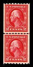 Us.#411 Wash & Frnkln Coil Line Pair Issue 1912 - Ognh - Vf $125.00 (Esp#0355)