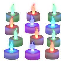 12er Set LED Teelichter, Farbwechsel, Stimmungslicht, Deko Batterie Partylichter